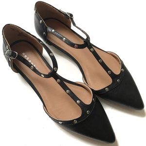Metaphor Pointed Toe Strap Flats New Size 8